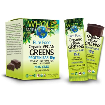 Organic Vegetable Green Protein Bar Chocolate 75g - Bars
