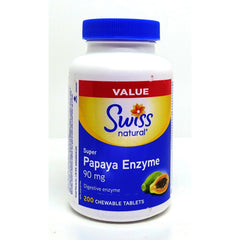 Papaya Enzyme Super 90mg Chewable 200 Tablets