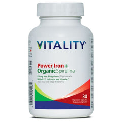 Power Iron+ Organic Spirulina 30 Veggie Caps