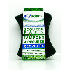 Recycled Scourer Pads Green 3p