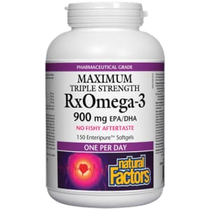 RxOmega-3 A Day 900mg 150 Soft Gels - Fish Oil