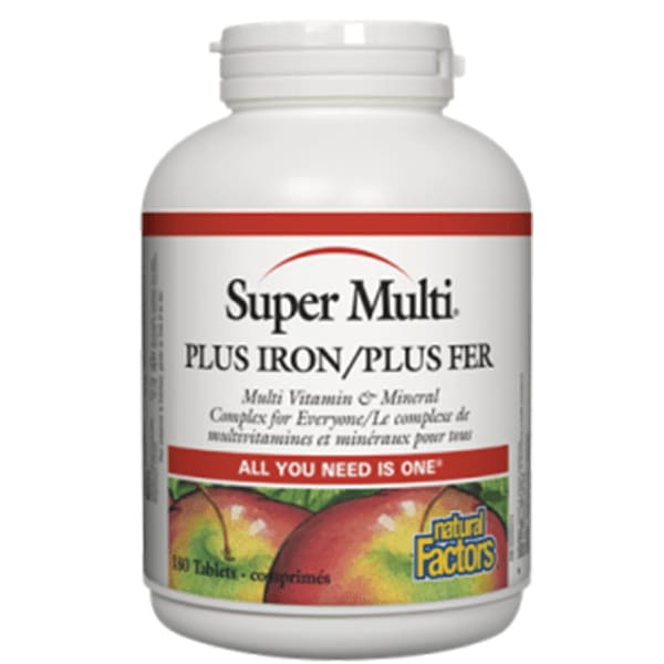 Super Multi Vitamin with Iron 180 Tablets - MultiVitamin