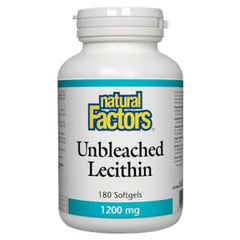 Unbleached Lecithin 1200mg 180 Soft Gels