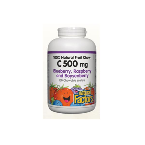 Vitamin C 500mg Blueberry Raspberry and Boysenberry Chewable Wafers 180 Tablets - VitaminC