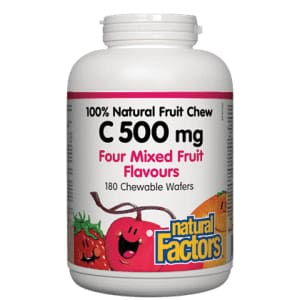 Vitamin C 500mg Four Mixed Fruit Flavors Chewable Wafers 90 Tablets - VitaminC
