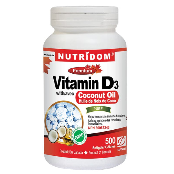 Vitamin D3 Coconut Oil 500 Soft Gels - VitaminD