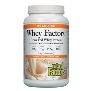 Whey Factors Unflavoured 1kg - WHEY PROTEIN