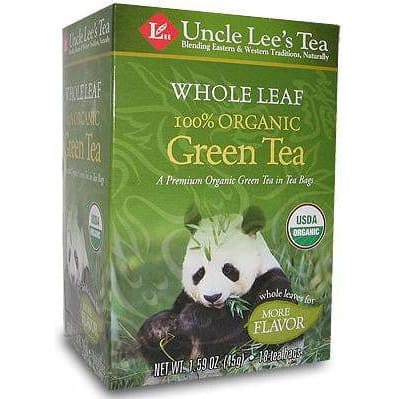 Whole Leaves Organic Green Tea 18 Tea Bags - Tea