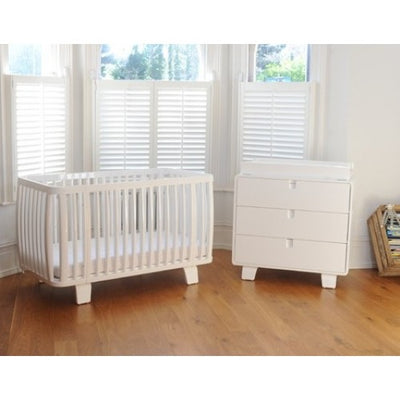 Bloom Retro Cot - Coconut White