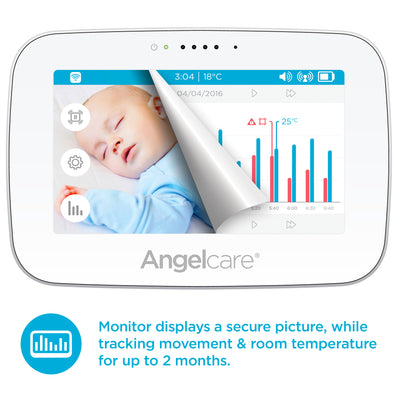 "Angelcare AC517 (5"" LCD)  Wireless Digital Sound and Movement Monitor"