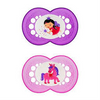 MAM Soother 0-4 mths 2pk - Pink