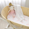 Living Textiles 2pk Moses Basket / Pram Jersey Fitted Sheets - Swan Princess