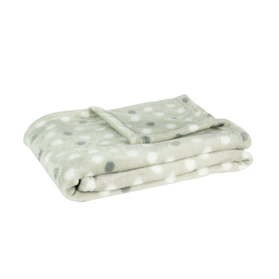 Little Linen Fleece Blanket - Grey Dot