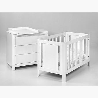 Troll Sun Cot w/ Mattress - White