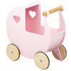 Moover Wooden Dolls Pram - Pink/natural Pre Order November