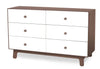 Oeuf Merlin 6 Drawer Dresser Sparrow Base - Walnut With Free Leander Matty