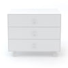 Oeuf Merlin 3 Draw Dresser Sparrow Base - White