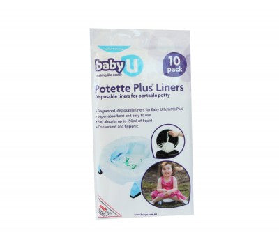 Baby U Pottete Plus Liners - 10 pack