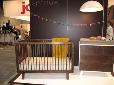 Oeuf Sparrow Cot - Walnut