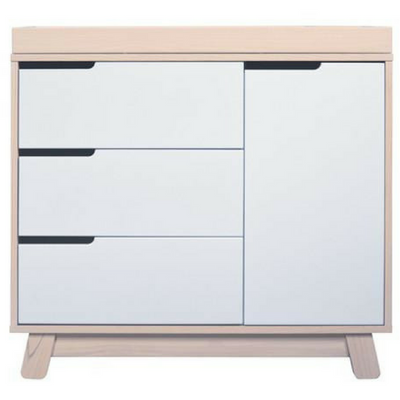 Babyletto Hudson Dresser Changer - Washed Natural / White