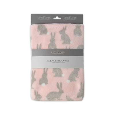 Little Linen Fleece Blanket - Rabbit Tail Pink