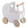 Moover Wooden Dolls Pram - White/natural Pre Order November
