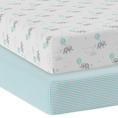 Living Textiles 2pk Cot Jersey Fitted Sheets - Dream Big