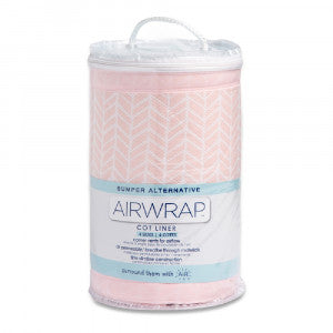 Airwrap Muslin 4 Sided Cot Liner (4 pcs) - Soho Pink