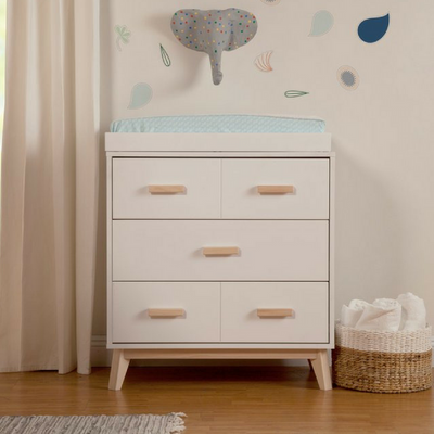 Babyletto Scoot Dresser - White/Washed Natural