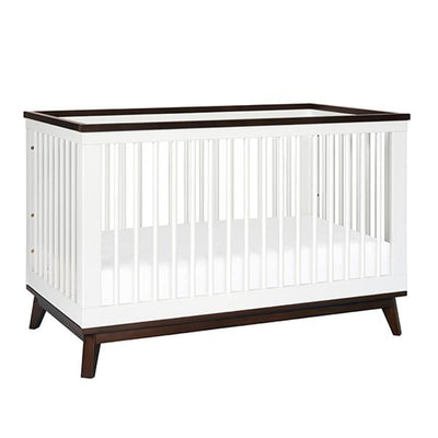 Babyletto Scoot Cot - White/Walnut