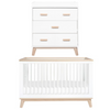 Babyletto Scoot Nursery Package - White / Washed Natural