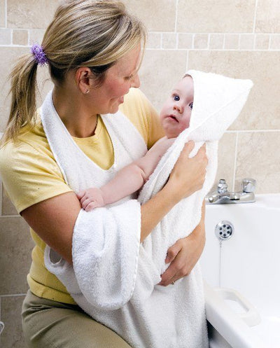 ClevaMama Apron Baby Hooded Bath Towel