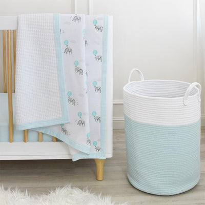Living Textiles Cot Jersey Waffle Blanket - Dream Big