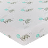 Living Textiles Cot Jersey Fitted Sheet - Dream Big Elephant