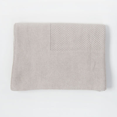 Little Bamboo Textured Blanket - Silver