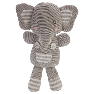 Living Textiles Knitted Soft Toy - Eli the Elephant