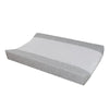 Living Textiles Jersey Change Pad Cover - White/Grey Melange Star
