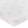 Living Textiles Swan Cot Jersey Fitted Sheet (1 pk)