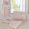 Living Textiles Sparkle Rose Gold Swaddle Me Gift Set