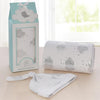 Living Textiles Sparkle Silver Clouds Swaddle Me Gift Set