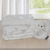 Living Textiles Sparkle Clouds Sherpa Blanket and Rattle Gift Set