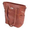 Vanchi Lucca Leather Tote - Tan
