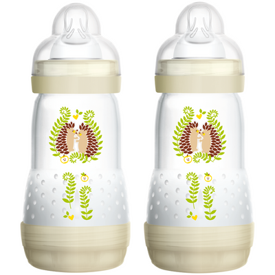Mam Self-Sterilizing Anti Colic Bottle 260ml 2 Pk - White