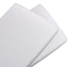 Living Textiles Pure White Jersey Bassinet Fitted Sheets (2pk)