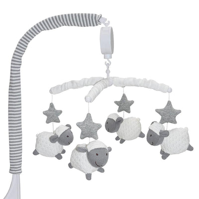 Living Textiles Misty Grey Sheep Musical Mobile