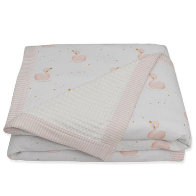 Living Textiles Swan Princess Jersey Waffle Cot Blanket