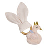Living Textiles Swan Princess Wooden Teether + Rattle Gift Set