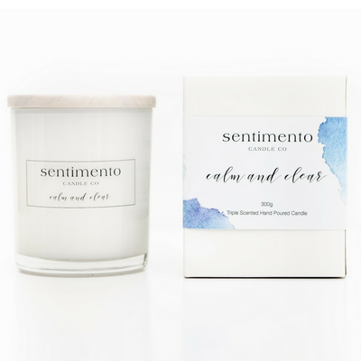 Sentimento Soy Candle - Calm And Clear