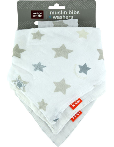 Weegoamigo Bamboo Muslin Bibs and Washers Set