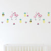 Living Textiles Flamingo Wall Decal Set